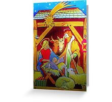 Nativity Candle Votive Greeting Card