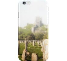 Corfe Castle in the MIst iPhone Case/Skin