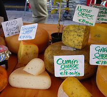 Cheese at Kilarney Farmer's Market by Cathy Klima