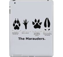 Marauders Animagus Footprint  iPad Case/Skin