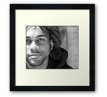 Chase, Portrait in black and white Framed Print