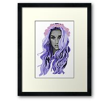 kesha with a rose crown Framed Print