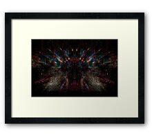 Electronic Spider Web Framed Print
