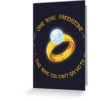 One Ring Arkenstone Greeting Card