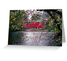 Covered Bridge Near Pleasantville, Berks County Pennsylvania, USA Greeting Card