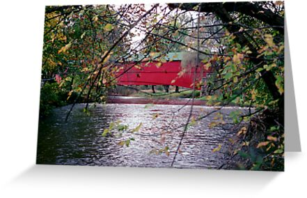 Covered Bridge Near Pleasantville, Berks County Pennsylvania, USA by Jeremiah Keenehan