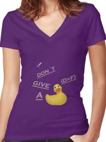 I don´t give a duck Women's Fitted V-Neck T-Shirt