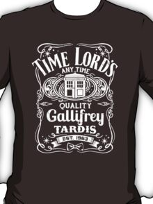 Doctor Who Time Lord's Quality Gallifrey Tardis Distressed Design T-Shirt