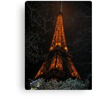 Uprooted Eiffel Canvas Print