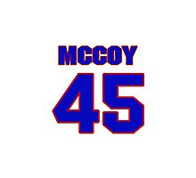 National football player Jamie McCoy jersey 45 Photographic Print