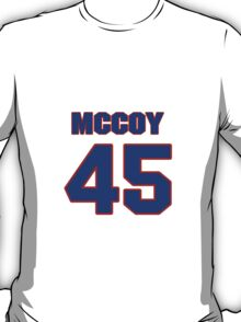 National football player Jamie McCoy jersey 45 T-Shirt