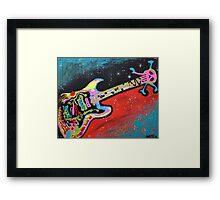Space Guitar Framed Print