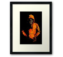 vulpes pilum mutat, non mores (Black Shirt Version) Framed Print
