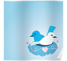 Wrens in a love nest Poster