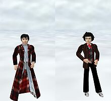 Ford Prefect & Arthur Dent from tv hitchhiker's guide to the galaxy by LokiLaufeysen
