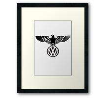 Volkswagen vintage logo Framed Print