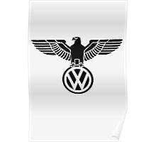 Volkswagen vintage logo Poster