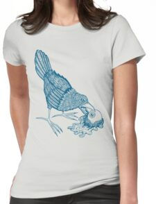 Don't Feed The Birds (Blue Variant) Womens Fitted T-Shirt