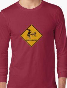 Surfers crossing Long Sleeve T-Shirt