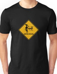 Surfers crossing Unisex T-Shirt