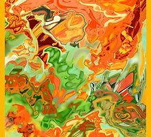 psychedelic ART, hand DRAWN bit by bit digi by ackelly4