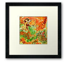 psychedelic ART, hand DRAWN bit by bit digi Framed Print