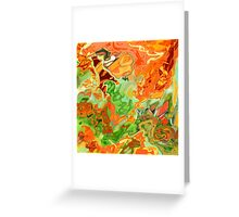 psychedelic ART, hand DRAWN bit by bit digi Greeting Card