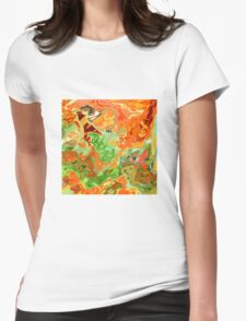 psychedelic ART, hand DRAWN bit by bit digi Womens Fitted T-Shirt