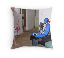 Car Seatcover Man Throw Pillow