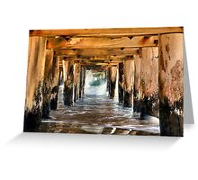 """Under The Boardwalk"" Greeting Card"
