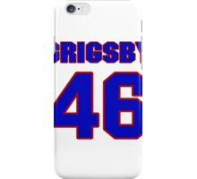 National football player Boomer Grigsby jersey 46 iPhone Case/Skin