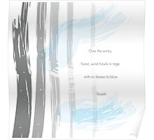 Wintry Forest Design Poster
