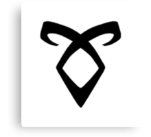 Shadowhunters' Angelic Rune (black) Canvas Print