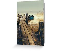 Crooked fisherman Greeting Card