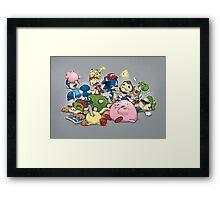 Smash Brawl Framed Print