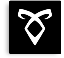 Shadowhunters' Angelic Rune (white) Canvas Print