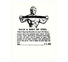 Build a Body of Steel Art Print