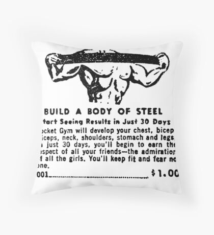 Build a Body of Steel Throw Pillow