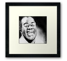 Portrait of Satchmo Framed Print