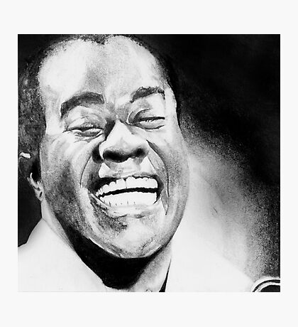 Portrait of Satchmo Photographic Print