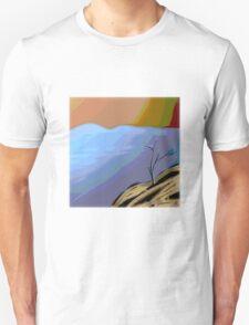 MODERN tree ART, hand DRAWN bit by bit digi T-Shirt