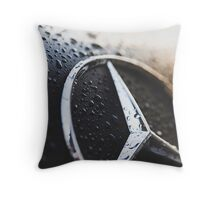 Burning Benz Throw Pillow