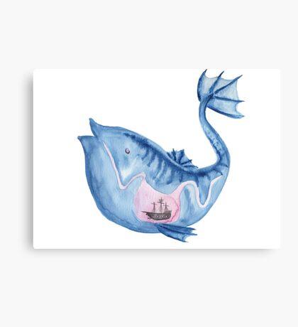 Look I drew a fish Canvas Print