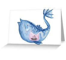 Look I drew a fish Greeting Card