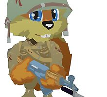 Conker Holding a Gun by Violentsofa