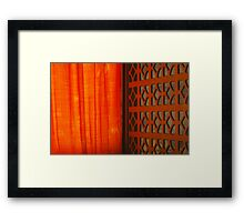 Tangerine Screen Framed Print