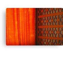 Tangerine Screen Canvas Print