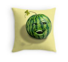 Happy melons rule the world Throw Pillow
