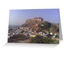 mehrangarh fort, jodhpur, rajasthan, india Greeting Card