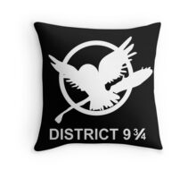 district 9 3/4 Throw Pillow